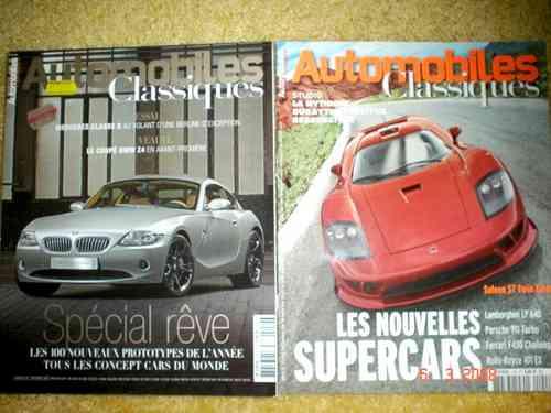 Revista Automobiles Classiques Bmw Z4 Sallen F430 911 Lp 640