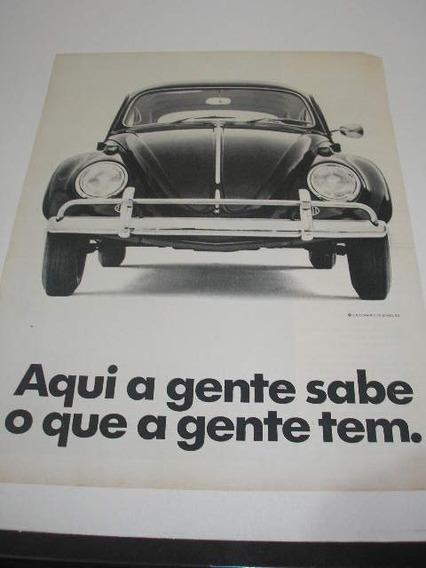 L 290/ Gcdk110 Propaganda Antiga Vw Volkswagem Fusca 1969