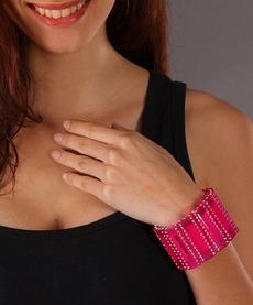 Bracelete Pink Com Swarovski