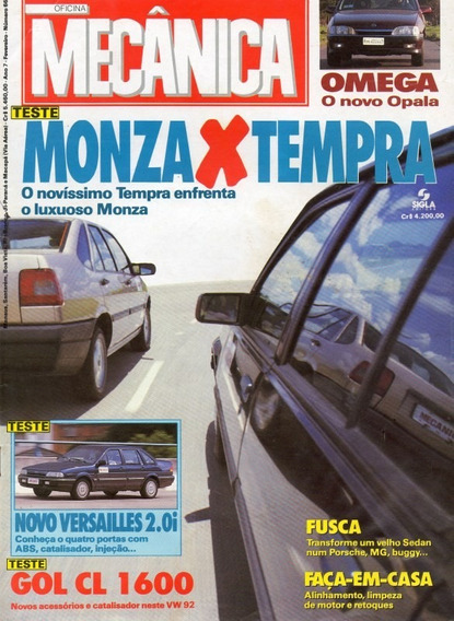 Oficina Mecânica Nº66 Monza Sl/e Fiat Tempra Omega Gol Cl