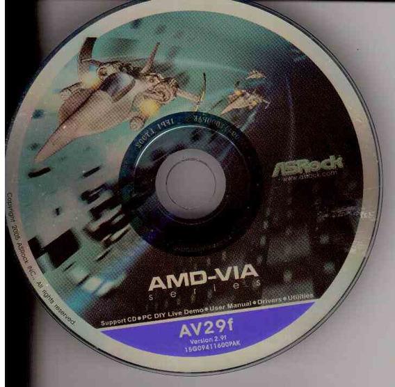 Cd Instalação Amd - Via - Novo Original