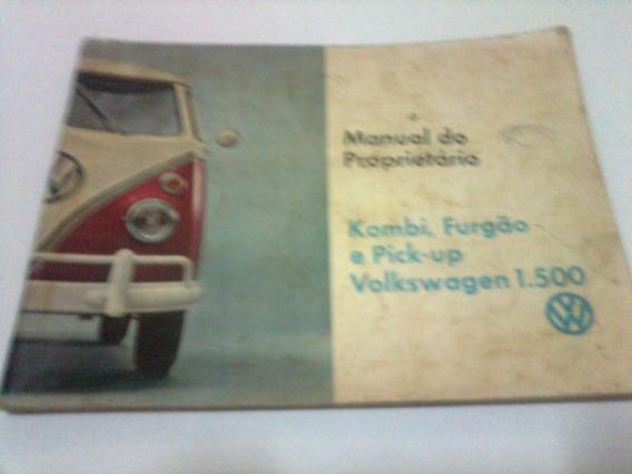 Manual Proprietario Vw Kombi 1500 Ano 1968 Original