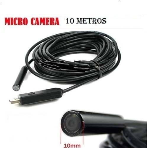 Camera De Inspeção Endoscopio 10 Metros