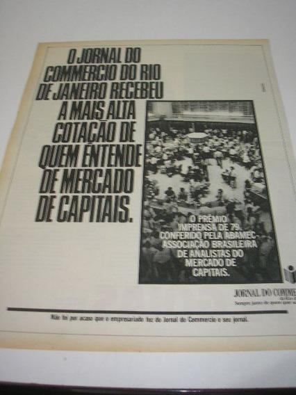 ( L - 290 ) Propaganda Antiga Jornal Do Commercio - R.j