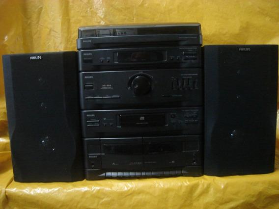 Conjto De Som 4 X 1 - Philips - As-445 - T.disco+cd+radio+cx