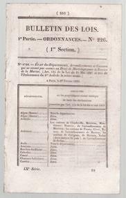 Lei 1833 Proibindo Marcação E Mutilação De Escravos - França
