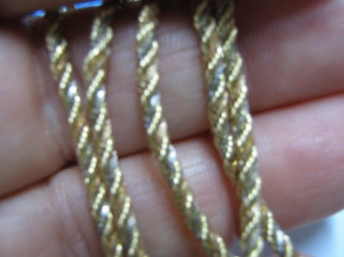 Ivi1388 = Corrente 40 Cm. 3 Cores Ouro 18k !!!