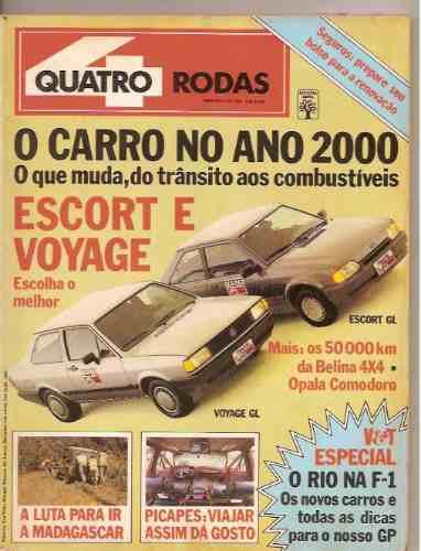 Revista Quatro Rodas - O Carro No Ano 2000. Escort E Voyage
