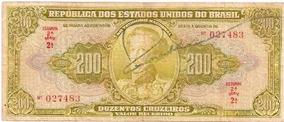Brasil - C-097, 200 Cruzeiros 1949, Autografada Série 2, Mbc