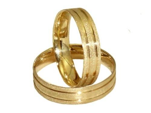 Joianete Par Aliança Ouro 18k-750 5gr 2 Canal Casamento