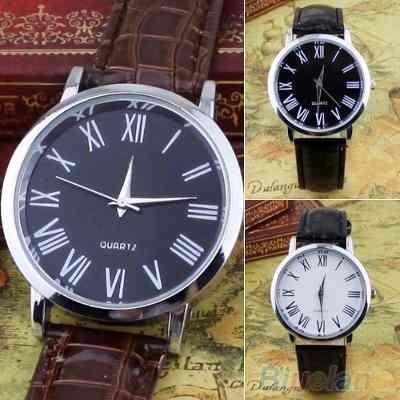 Relógio Geneva Em Couro - Pronta Entrega