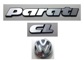 Kit Emblemas Volkswagen Parati Cl Vw Grade 91 À 97 Brinde