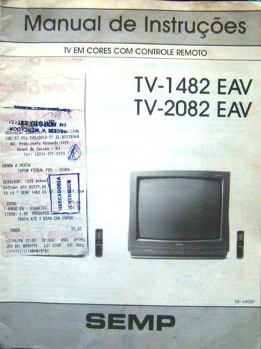 Manual Da Tv Semp 1482 E 2082 Eav