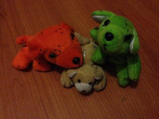 Lote 3 Mini Peluches Dos Perritos Y Osito Para Niños Regalo