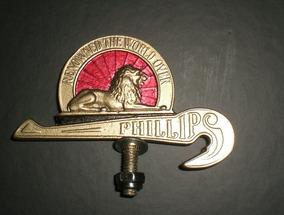 Phillips Emblema Para-lama Bicicleta Antiga