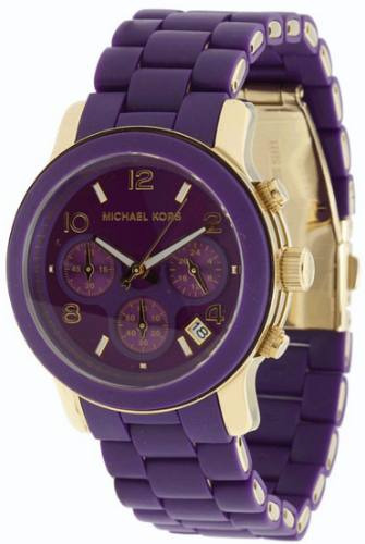 Relógio Luxo Michael Kors Mk5324 Orig Chron Anal Purple!!