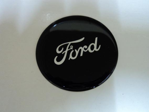 Emblema Ford Preto Adesivo Para Rodas Esportivas70mm