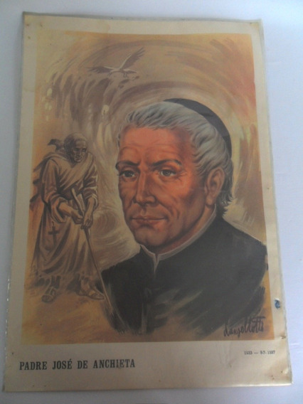 Gravura Retratando Padre José De Anchieta Lanzellotti Coleçã