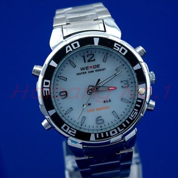 Relógio Weide Sport Watch White Genuíno - Modelo Masculino
