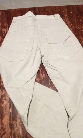 Pantalon De Corderoy Para Niño Talle 12 Color Crudo