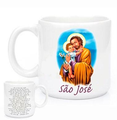 Imagem 1 de 2 de Canecas Religiosas São José Com Oração
