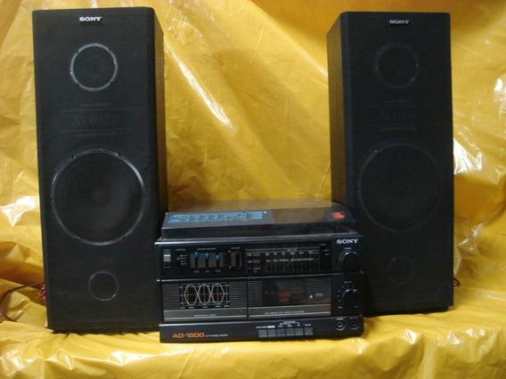 Conjunto De Som Sony - 3 X 1 - Ad-1.500 - T.disco+deck+radio