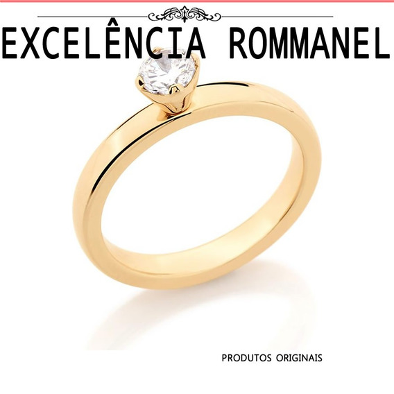 Anel Rommanel Solitario Aliança 511633
