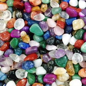 Pedras 2-4cm Semipreciosas Brasileiras Mistas Polidas - 3kg