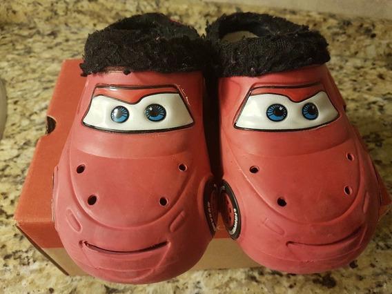Pantufla Cars Crocs Con Abrigo Disney Original Talle 28/29