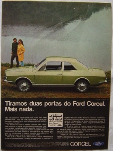 Ropaganda Ford Corcel Publicação Revista Veja - Ano 1969.
