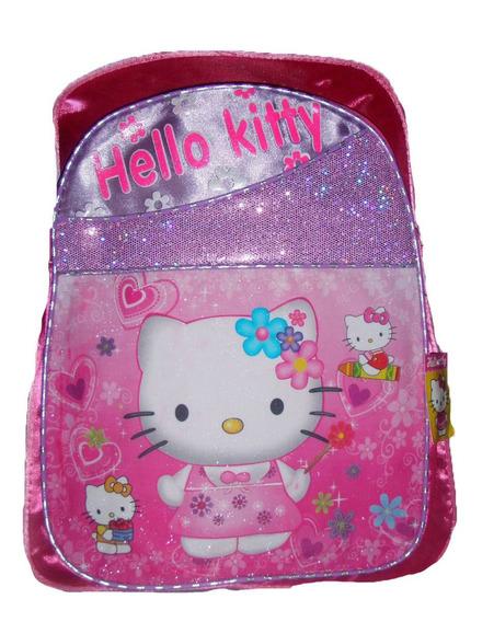 Mochila Infantil Hello Kitty Brillitos Grande Muy Practica