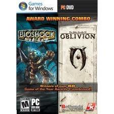 Jogo Combo Bioshock E Oblivion Lacrado Para Pc Computador