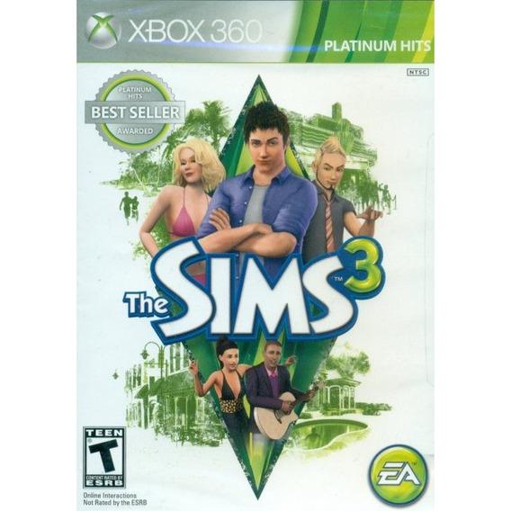 Jogo Novo Da Ea Games Lacrado The Sims 3 Para Xbox 360 Ntsc