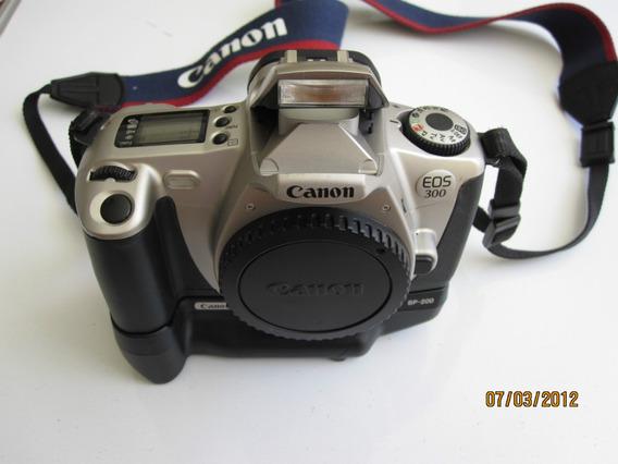 Canon Eos 300, Filme 35 Mm, Analogica! Com Battery Pack.