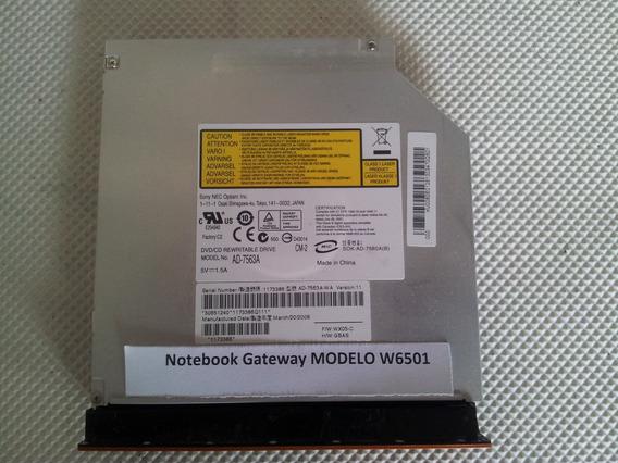 Gravador Dvd Notebook Gateway Modelo W6501