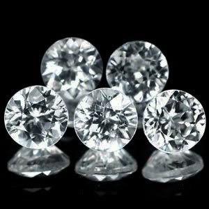 5 Diamantes Naturais Vvs/vs Naturais 4 Pts Cada