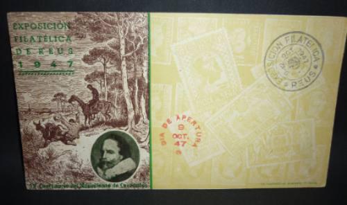 Exposição Filatélica De Reus 9 Outubro De 1947 .
