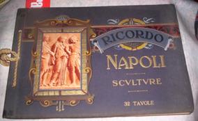 Álbum Antigo Artístico Esculturas Napoli
