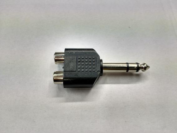 Ficha Adaptador De 2 Rca A Plug 1/4 Superfix Ada062
