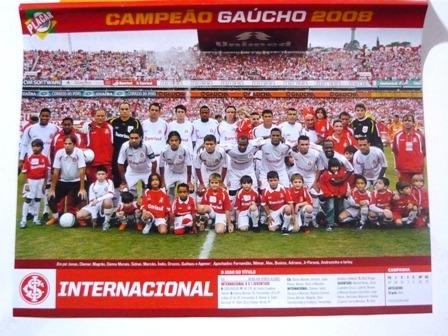 Mini Poster Inter Campeão Gaúcho E Itumbiara Go 2008 Placar