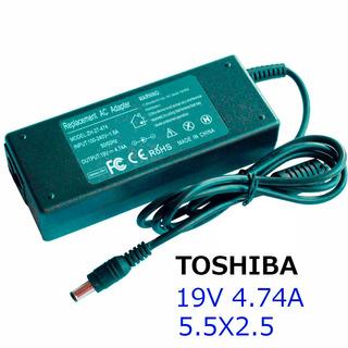 Cargador Toshiba 19v 4.74a 5.5x2.5 / Mallbits