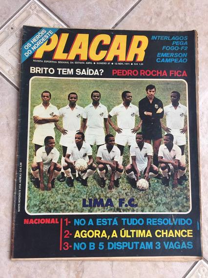 Revista Placar 87 Cejas Paulo César Pedro Rocha Emerson M369