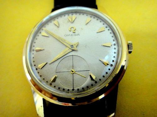 Relógio Ômega Antigo Chapeado A Ouro 18k