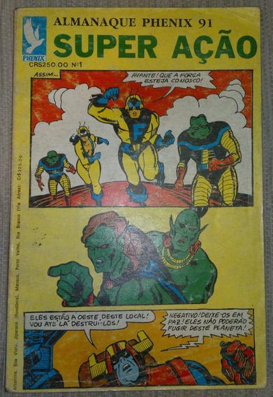 Gibi Almanaque Phenix 91 Super Ação Nº 1 - 1991 - Phenix