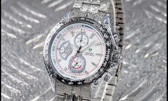 Relógio Weide Analógico Sport White Genuíno Modelo Masculino