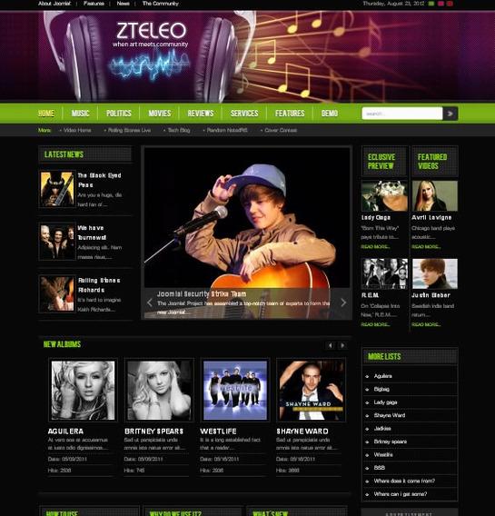 Site Para Musica - Joomla Modelo J172