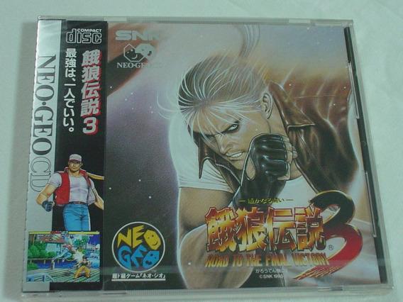 Neo Geo Cd : Fatal Fury 3 Lacrado Novo!!!
