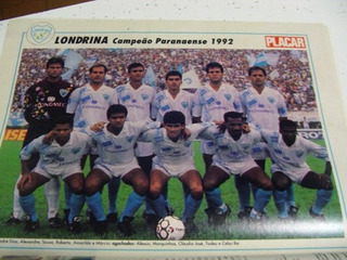 Mini Poster Londrina Campeão Paraná 1992 Placar Frete Gratis