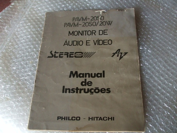 Manual Tv Philco Hitachi, Anos 1980