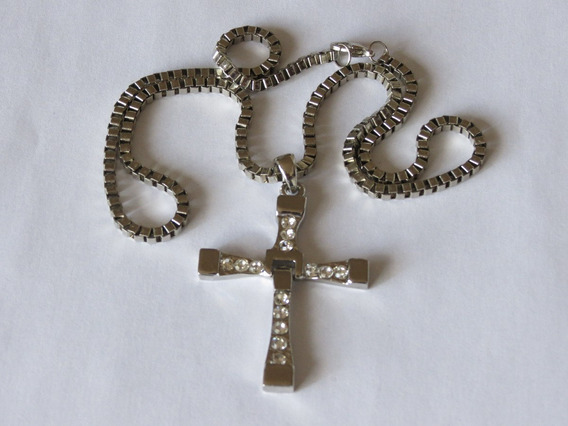 Corrente + Pingente Crucifixo Kit Com 10 Unidades